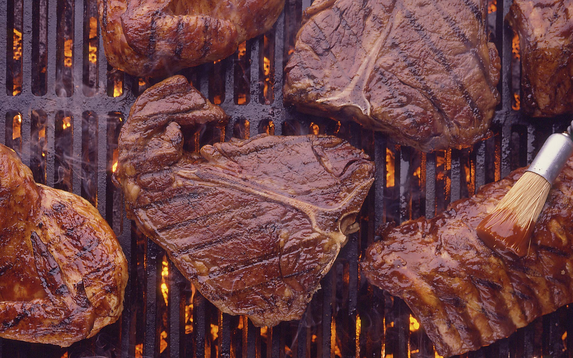 A391---Steaks-on-Grill